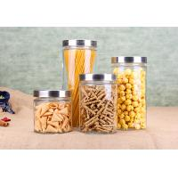 Quality Cylinder Glass Storage Jars Noodle Storage Dry Food Glass Jars Kitchenware Set for sale