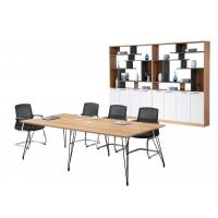 Buy cheap 240cm Melamine Conference Table , Office Meeting Table With Six Metal Legs from wholesalers