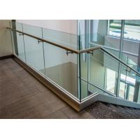 Wholesale U channel steel tempered glass railing for modern design from china suppliers