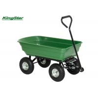 Buy cheap Rubber Wheel Heavy Duty Garden Cart Tipper Trailer For Gardening Tools Moving from wholesalers