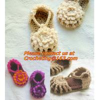Quality Baby Boy Girl Infant Knit Shoes Handmade Crochet Booties for sale