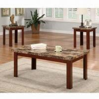 Wholesale Wooden Coffee Table with NC Painting, Coffee/End Table Measures 48 x 26 x 18/26 x 22 x 22 inches from china suppliers
