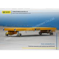 Wholesale Flatbed Material Transfer Cart / Industrial Transfer Car Draw Bar Tow Mode from china suppliers