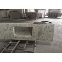 China White Granite Prefab Kitchen Countertops With Polished Eased Edge Customized Size on sale
