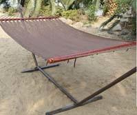 Portable outdoor cotton rope double person hammock with Wood bar easy to fold easy to set up