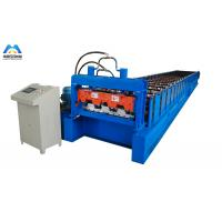 China Galvanized Metal Deck Roll Forming Machine Mexico Style 1219mm Material Width on sale