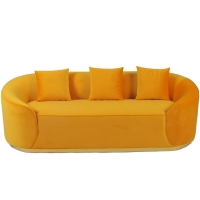 Wholesale Living Room Fabric Velvet Sofa With Metal Base from china suppliers