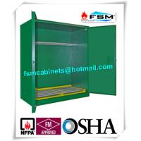 Green Hazardous Storage Cabinets , Dangerous Goods Storage Cabinets For Chemicals
