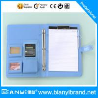 Wholesale A4 portfolio with logo and pad from china suppliers