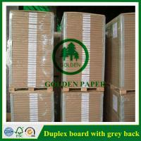 Wholesale 180gsm-450gsm Duplex board with grey back and white back in roll and sheet from china suppliers