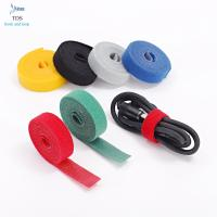 Wholesale Anti Slip Nylon Reusable Cable Ties Injection Molded Back To Back Hook And Loop Tape Roll from china suppliers