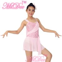 Drop Waist Sequin Modern Lyrical Dance Costumes With Flying Tape Bodice