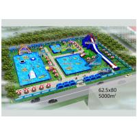 Buy cheap Puncture - Proof Inflatable Water Parks / Amusement Park Commercial Blow Up from wholesalers