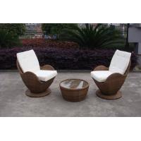 Quality Contemporary Comfortable Sofa Chair , Rattan Wicker Furniture Set for sale