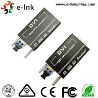 Wholesale Mini 4KX2K Dvi To Fiber Converter Transceiver Multi Mode 300M Auto EDID 10.2 Gbps from china suppliers