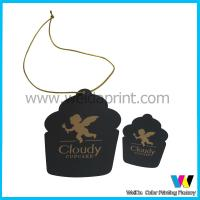 Wholesale Cupcake Shaped Black White Matt Printable Paper Tags with Golden Logo from china suppliers