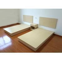 Buy cheap Customized Buget Hotel Contract Furniture Bed Melamine Laminated Board With PVC from wholesalers