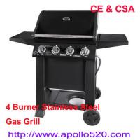 Wholesale Free Standing Gas Grill 4 Burner with CSA Certification from china suppliers