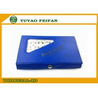 China Blue PVC Box Veined Marble Wooden Dominoes Set With SGS / ICTI on sale