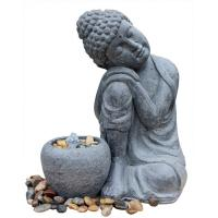 Wholesale Hand Holding Face  To Have A Rest  Buddha  Water Fountain For Garden And Home from china suppliers