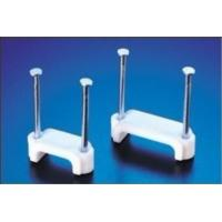 Double nail type flat cable clips