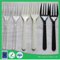 Wholesale Plastic Disposable Forks in clear, white and black colors from china suppliers