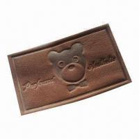 China Embossed leather label for jeans patches or garments use on sale