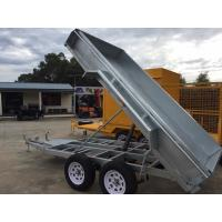 Quality Electric Pump Galvanised Hydraulic Tipper 8 X 5 Tandem Trailer 2000kg for sale