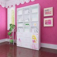 Wholesale E0 Grade Kids'/Children's Furniture, 3-door Book Cabinet/Bookcases with Printing Cartoon Designs from china suppliers