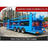 Wholesale 12 Car Carrier Semi Trailer , Skeletal Type 2 / 3 Axles Vehicle Transport  Trailer from china suppliers