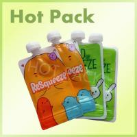 China Top Spout Baby Food Stand up Reusable Spout Pouch for Liquid Packing Leakproof on sale
