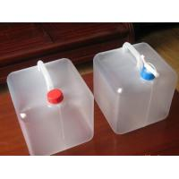 China Household family use camping outdoor foldable water container, PE Collapsible plastic bags on sale