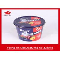 China Reuseable Round Gift Tins YT1076 , Large Dried Foods Packaging Container With Lids on sale
