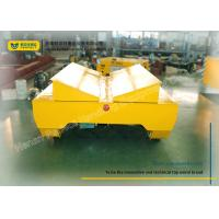 Quality Coils Handling Rail Transfer Trolley / Motorized Rail Cart For Steel Factory for sale