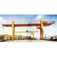 Wholesale 28.5m Span 200 / 32t Double Girder Gantry Electric Overhead Crane with Hook from china suppliers