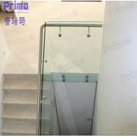 Quality Deck side railing lowes glass railing with stainless steel standoff hardware for sale