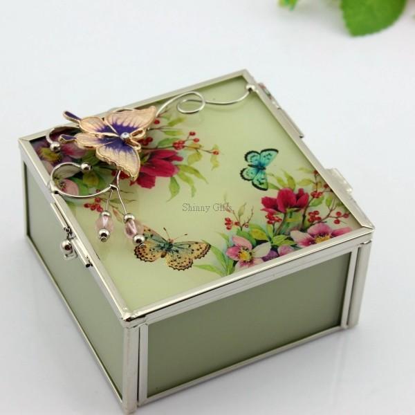 Wedding Gifts EU Style Glass Painting Jewelry Box of shinnygifts-cn