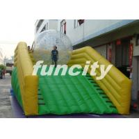 0.55mm PVC Tarpaulin Inflatable Zorb Ramp with continue air blower