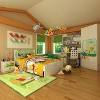 Wholesale Kids' Bedroom Wooden Furniture, Contains Chair, E1 MDF, with Cartoon Figure Design from china suppliers