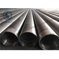 Wholesale Stainless Steel V shape Wedge Wire Wrapped Slotted Screen Pipe For Filteration from china suppliers