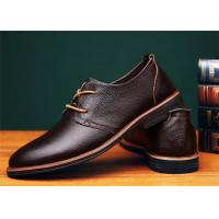 Wholesale Concise Design Brown Comfortable Casual Shoes With Goodyear Welt Flat Heel from china suppliers