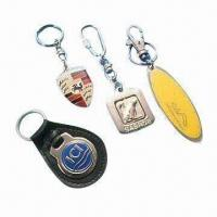 China Colorful Metal Keychain with Soft Enamel Finish, Made of Copper and Brass on sale