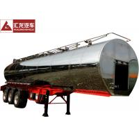 Wholesale 316L Milk Transport Truck , Stainless Steel Water Tank Trailer With Pump System from china suppliers