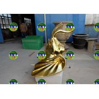 Wholesale metal mirror effect fiberglass elephant head statue/sculpture as decoration in hotel mall supermarket from china suppliers