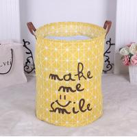 China Cheap colorful foldable canvas kid toys storage basket for sale,Canvas Fabric Laundry Bucket Storage Basket With Twist C on sale