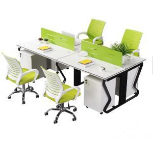 China Acid Pickling Surface Steel Office Furniture 4 Work Station Partition Desk on sale