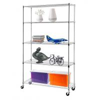 H175 Chrome Plating  Display Shelf Floor Standing Display Unit Easy To Install Mobile Rack with 4pcs Casters