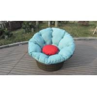 Quality Round shape garden daybed wicker rattan beach swivel chair in all weather for sale