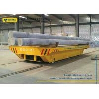 Wholesale PLC Controlled Battery Transfer Cart Rail Drive Steel Platform Motorized Wagon from china suppliers