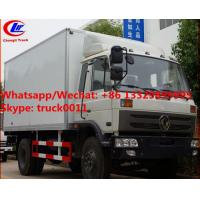 Wholesale High quality and competitive price dongfeng 10tons 170hp diesel cold room truck for sale, refrigerator van truck from china suppliers